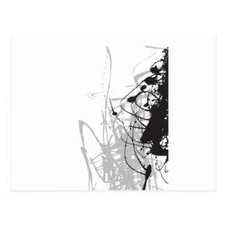 abstract black and white art vo1 postcard