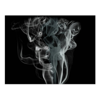 Abstract Black and White Beautiful Smoke Design Postcard