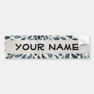 abstract black and white bumper sticker