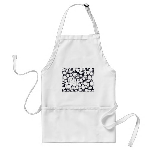Abstract Black and White Circle Pattern Aprons