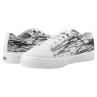 Abstract Black and White Graphic Print Printed Shoes