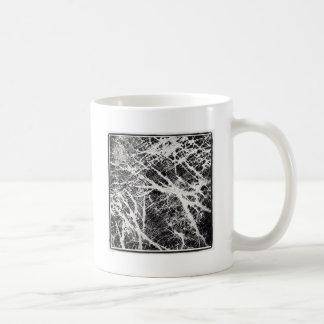Abstract black and white pattern basic white mug
