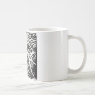 Abstract black and white pattern coffee mug