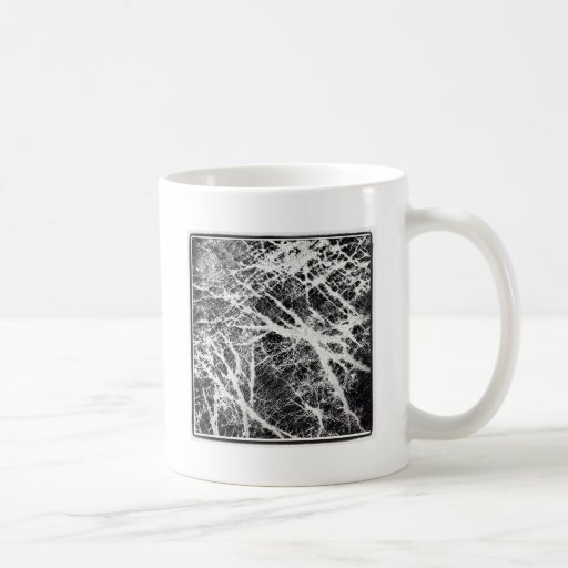 Abstract black and white pattern mugs
