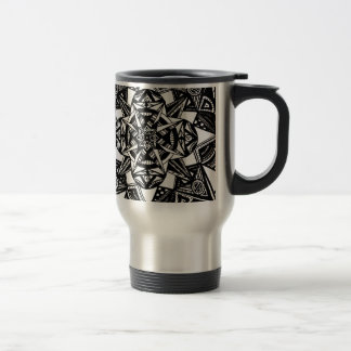 Abstract Black and White Travel Mug