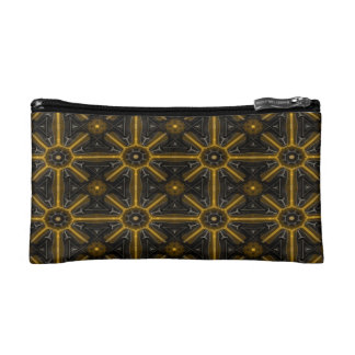 Abstract Black And Yellow Seamless Pattern Cosmetic Bag