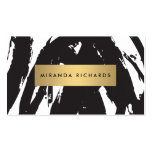Abstract Black Brushstrokes for Makeup Artist Pack Of Standard Business Cards