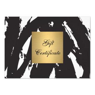 Abstract Black Brushstrokes Gift Certificate 11 Cm X 16 Cm Invitation Card