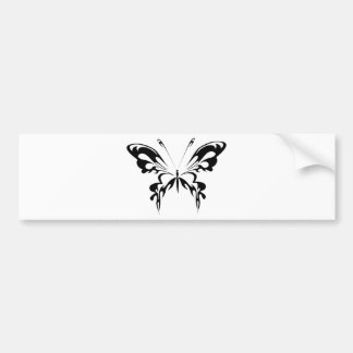 Abstract  Black Butterfly Bumper Sticker
