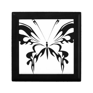 Abstract  Black Butterfly Small Square Gift Box