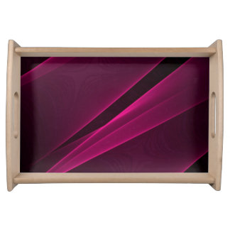 ABSTRACT BLACK DEEP PINK SMALL SERVING TRAY