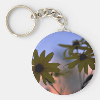 Abstract Black-eyed Susans Key Chain