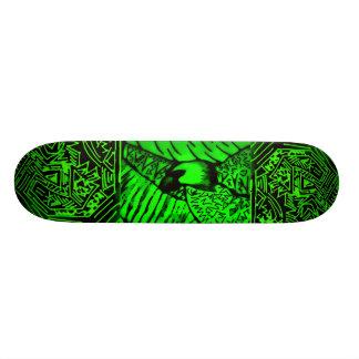 "Abstract Black/Green ""Eagle"" Skateboard"