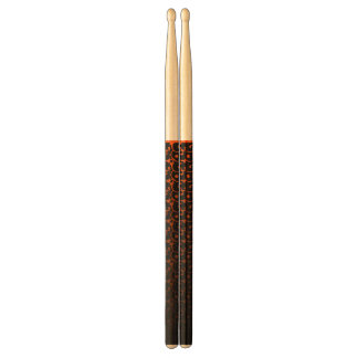 Abstract black&orange drumsticks