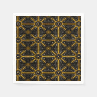 Abstract Black Paper Napkin