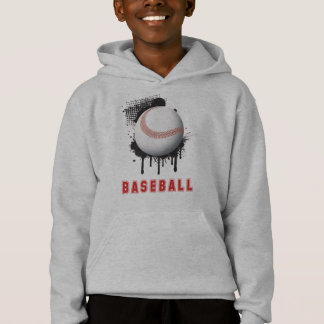Abstract Black Splotch with Baseball and TEXT