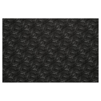Abstract Black Swirl Pattern Fabric