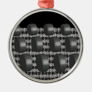 Abstract Black White Grey Christmas Ornaments