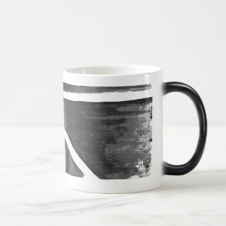 Abstract Black white Heat sensitive Cup