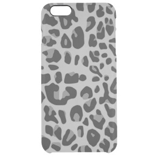Abstract Black White Hipster Cheetah Animal Print Clear iPhone 6 Plus Case