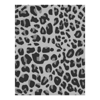 Abstract Black White Hipster Cheetah Animal Print Full Color Flyer