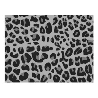 Abstract Black White Hipster Cheetah Animal Print Postcard