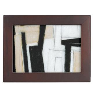 Abstract Black & White Painting Keepsake Box