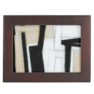 Abstract Black & White Painting Keepsake Boxes