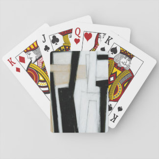 Abstract Black & White Painting Playing Cards