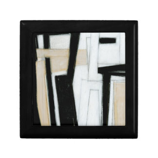 Abstract Black & White Painting Small Square Gift Box