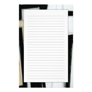 Abstract Black & White Painting Stationery