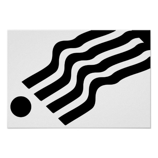 Abstract Black White Poster