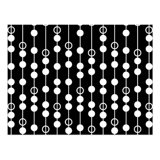 Abstract Black & White Print Post Cards