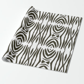 Abstract Black White Zebra Stripes Wrapping Paper
