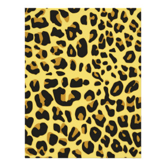 Abstract Black Yellow Hipster Cheetah Animal Print Full Color Flyer