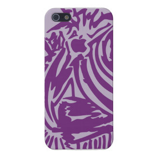 Abstract Blades & Stripes - Purple iPhone 5/5S Cover