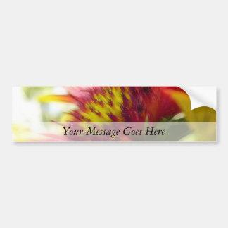 Abstract Blanket Flower Bloom Car Bumper Sticker