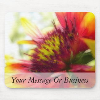 Abstract Blanket Flower Bloom Mouse Pad