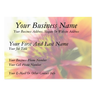 Abstract Blanket Flower Bloom Pack Of Chubby Business Cards