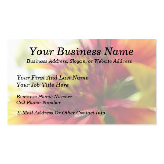 Abstract Blanket Flower Bloom Pack Of Standard Business Cards