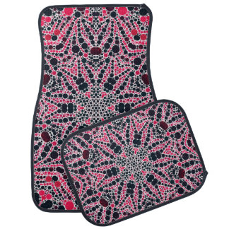 Abstract Bling Pattern Car Mat Sets