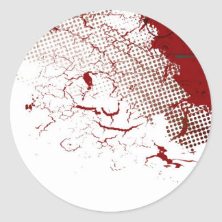 abstract blood classic round sticker