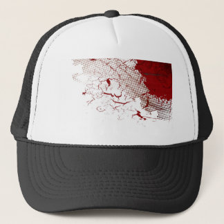 abstract blood trucker hat