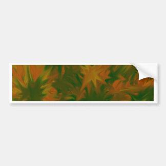 abstract blossoms bumper sticker