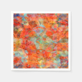 Abstract Blue And Brown  Pattern Paper Napkin