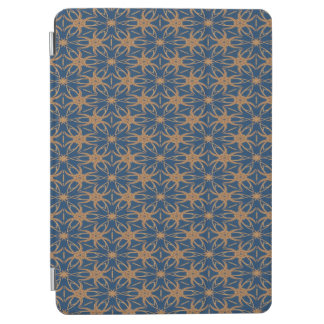 Abstract Blue And Brown Wallpaper Pattern iPad Air Cover