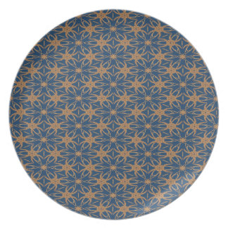 Abstract Blue And Brown Wallpaper Pattern Plate