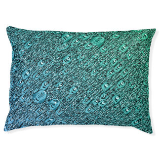 Abstract Blue And Green Shapes Pet Bed