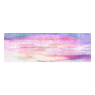 Abstract blue and pink ocean texture pack of skinny business cards
