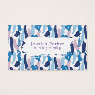 Abstract Blue and Purple Brushstrokes Business Card